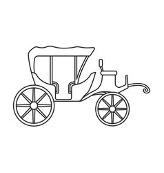 vintage carriage iconoutline line vector image
