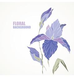 violet iris card vector image