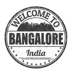 welcome to bangalore sign or stamp vector image