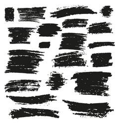 black brush stroke vector image