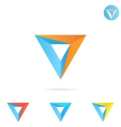 Delta letter with arrow vector