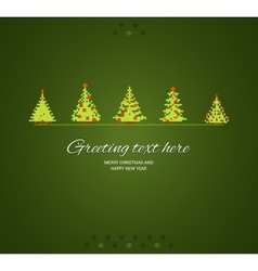 Fir-trees winter background vector image