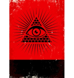 pyramid and the eye vector image