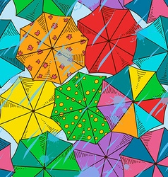 Top of umbrellas seamless pattern vector image