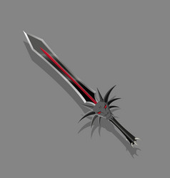 a dark sword in a fantasy style vector image