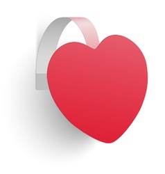 Advertising wobbler looking like heart isolated vector image vector image
