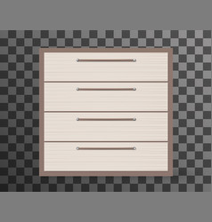 Commode realistic design on transparent background vector