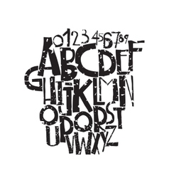 Decorative grunge font in bold letters vector image