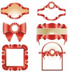 set of design elements vector image