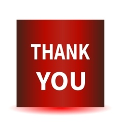 A red icon with a white inscription Thank you vector image vector image