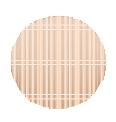 A Round Bamboo Mat on White Background vector image vector image