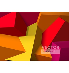 Abstract background with overlapping red and vector image