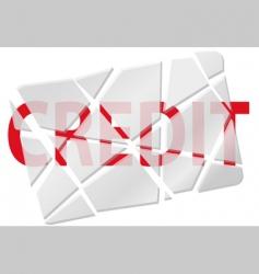 broken creditcard vector image