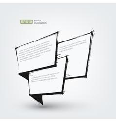 design element Hand drawn banner on white vector image