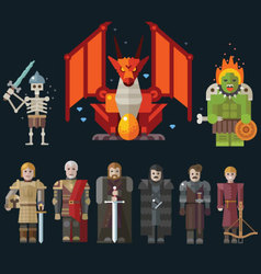 Different characters for the game vector