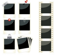 instant photo frames set vector image