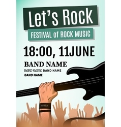 Rock festival poster vector image vector image