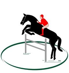 Equestrian sport-1 vector image vector image