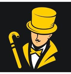 Gentleman sign vector image
