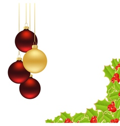 holly background 2 vector image vector image