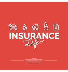 Life insurance poster vector image vector image