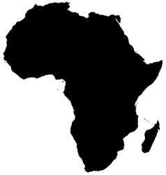 Silhouette map of Africa vector image