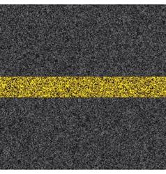 stripe on asphalt vector image vector image