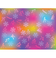 winter sports background vector image