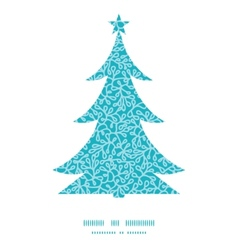 Abstract underwater plants Christmas tree vector