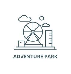 adventure park line icon adventure park vector image