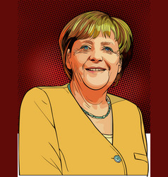 Angela merkel vector