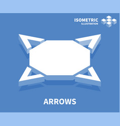 arrows icon isometric template for web design vector image