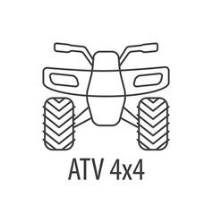atv bike template vector image