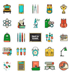 back school set vector image