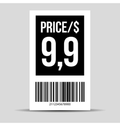 Barcode label - price tag vector