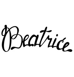 Beatrice name lettering vector