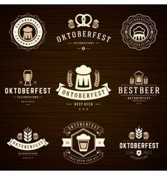 Beer festival Oktoberfest celebrations labels vector