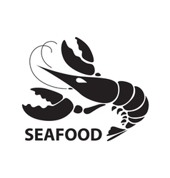 black lobster vector image