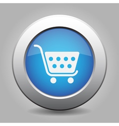 Blue button - shopping cart vector