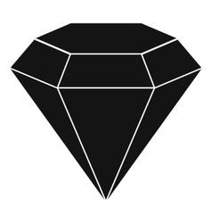 Brilliant gemstone icon simple style vector
