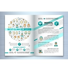Brochure plastic surgery clinic Medical design vector