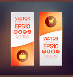 Business vertical banners vector