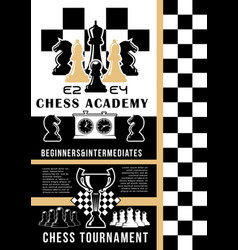 chess playing school game pieces and board vector image