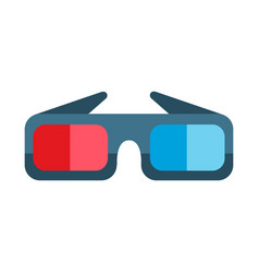 Cinema movie glasses vector
