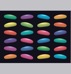 colorful fruit gelatin jelly beans on black vector image
