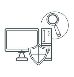 computer antivirus vector image