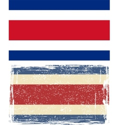 Costa Rica grunge flag vector