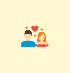 couple icon flat element of vector image