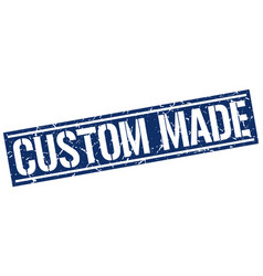 Custom made square grunge stamp vector