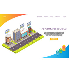 customer review landing page website vector image